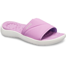 Crocs Reviva - Sandales Femme - rose/blanc